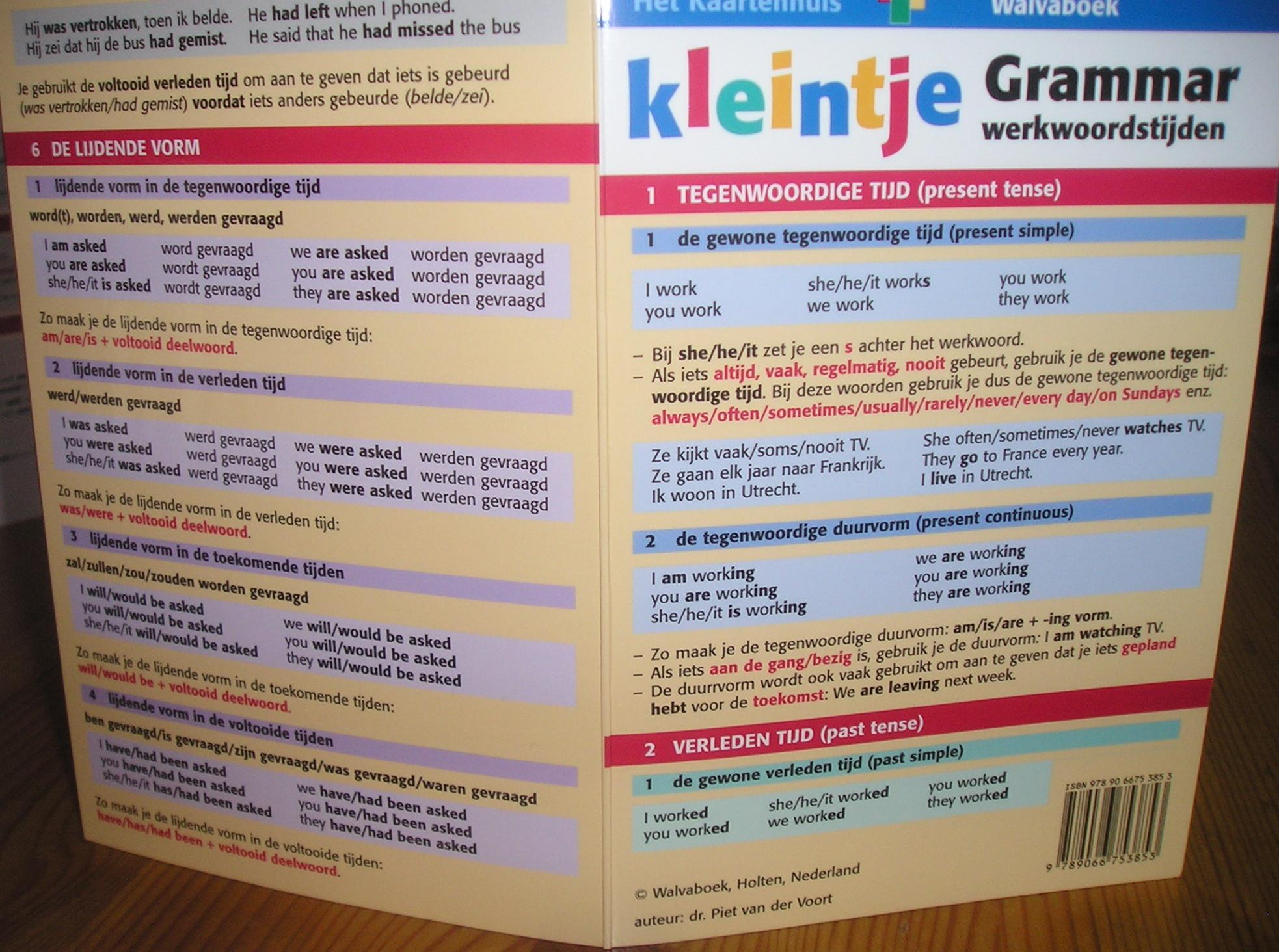 Engelse grammatica Engelse tijden samenvatting